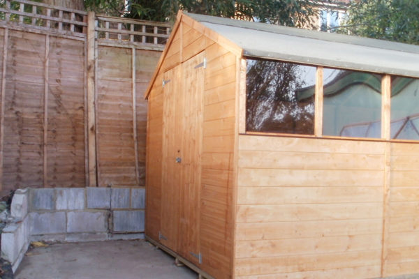 GARDEN SHED OUTSIDE DOOR