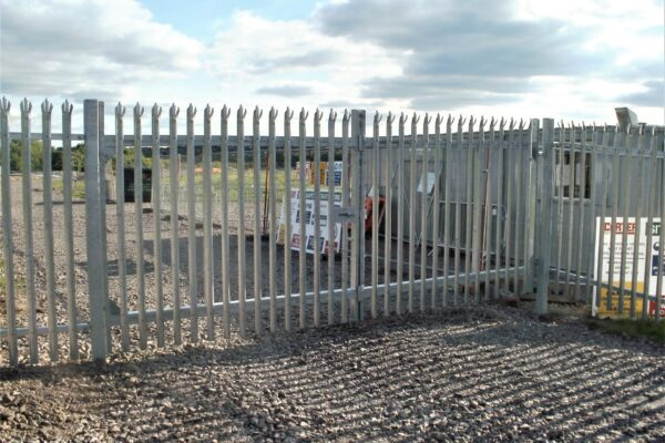 DOUBLE SILVER PALISADE GATES FRONT