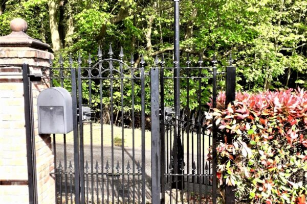 SINGLE WROUGHT IRON GATE FRONT